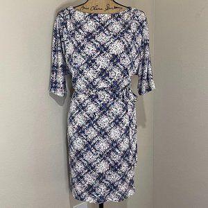 Jessica Simpson flutter sleeve workwear dress